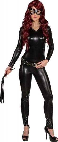 Sexy Domina Bodysuit Kostüm Schwarz