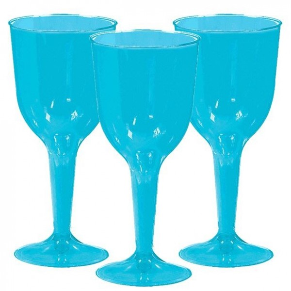 20 azure blue wine glasses Salut 295ml