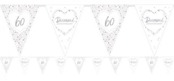 60th wedding anniversary diamond wedding pennant chain 3.7m