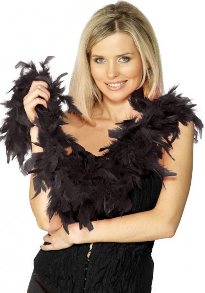 Classic feather boa in black 150cm