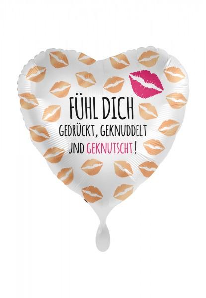 Fühl dich gedrückt Herz Folienballon 43cm