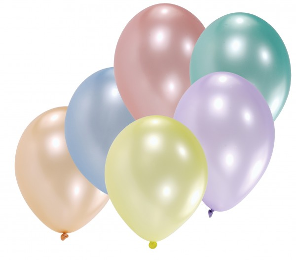 10er Set Luftballons Perlmutt Muschelglanz