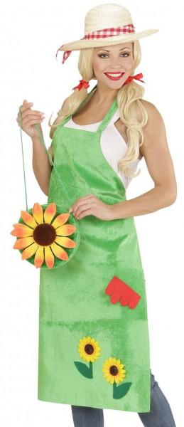 Hübsche Gärtnerin Schürze Grün