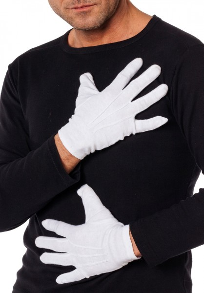 White cotton gloves for universal use