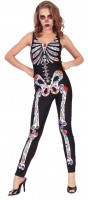 Bunter Skelett Damen Jumpsuit