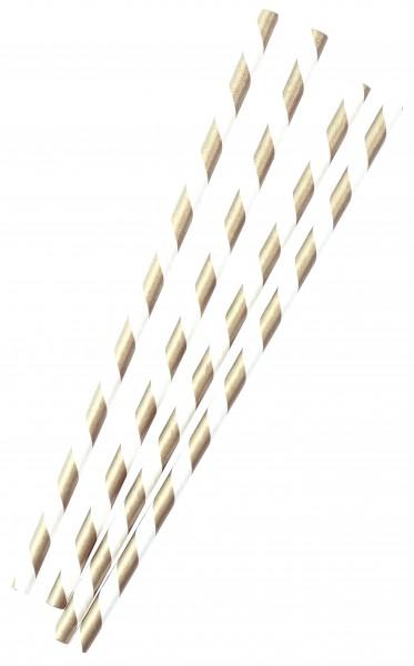 24 Golden Wishes papirstrå 20cm