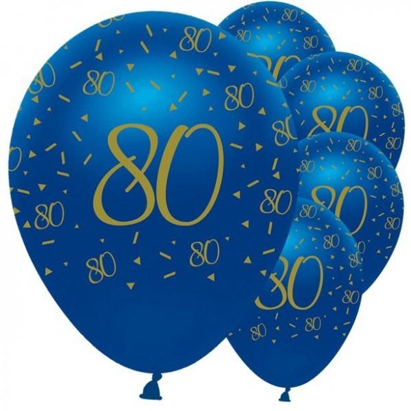 6 ballons luxueux 80e anniversaire 30cm