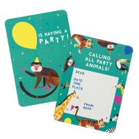 8 Party Animal Einladungskarten
