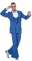 70er Jahre Party Anzug Blau
