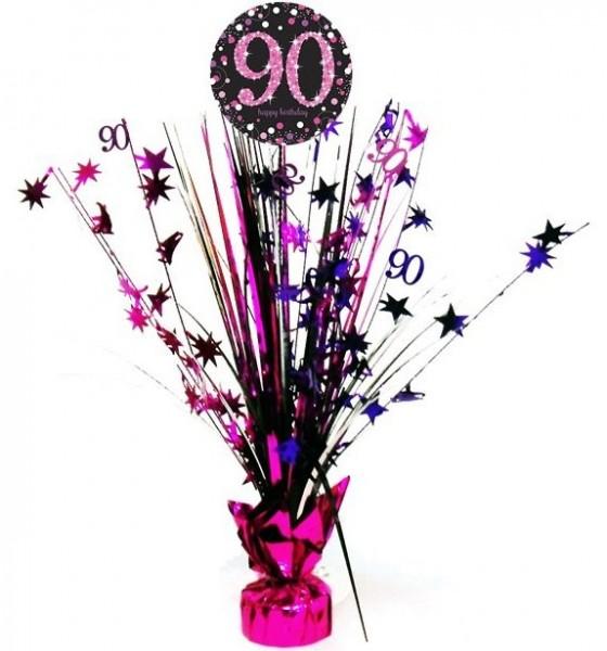 Pink 90th Birthday Tischfontäne 46cm