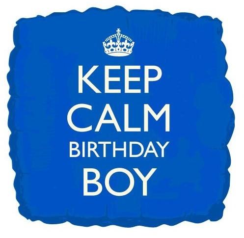 Gardez votre calme ballon d'anniversaire garçon 46cm