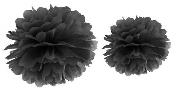 Pompon Romy schwarz 35cm