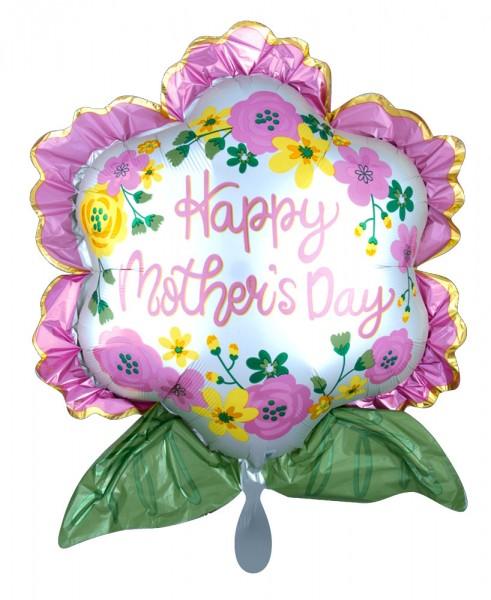 Ballon Feuille Fleur Fête des Mères 68cm