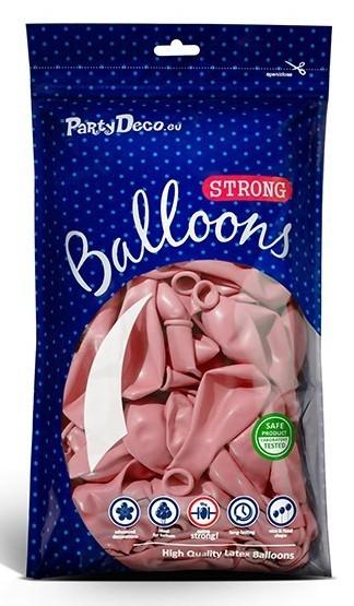 100 palloncini rosa pastello 27cm
