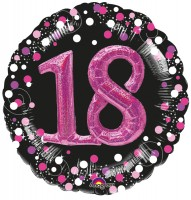 Pink 18th Birthday Folienballon 91cm