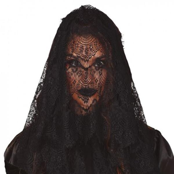 Schwarzer Gothic Schleier Ellyn