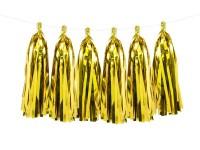Gold metallic Tasselgirlande 1,5m x 30cm