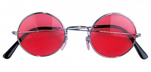 Gafas hippies rojas