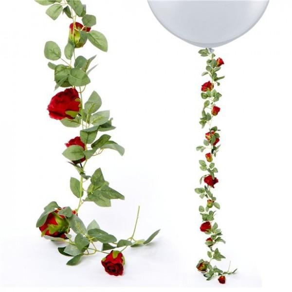 Rote Rosengirlande 1,75m