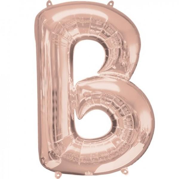 Letter B foil balloon rose gold 41cm