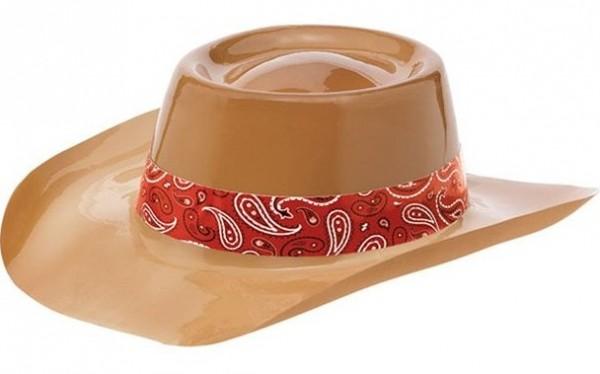 Cowboy Kunststoff Hut mit Band