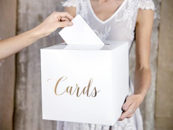 Boîte à cartes Elaine or