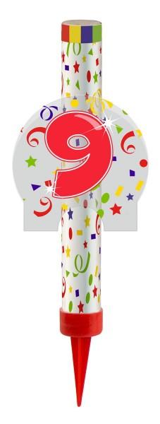 Feu d'artifice de table pour le 9e anniversaire
