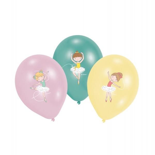 6 Kleine Ballerina Luftballons 28cm