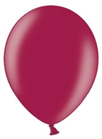 50 Partystar metallic Ballons brombeere 27cm