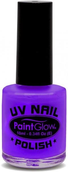 Esmalte de uñas púrpura neón UV