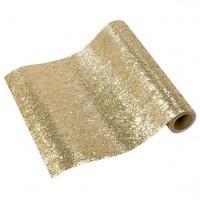 Tischläufer gold-glitzernd 1,8m x 30cm