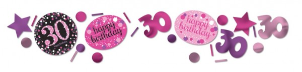 Pink 30th Birthday sprinkle decoration 34g