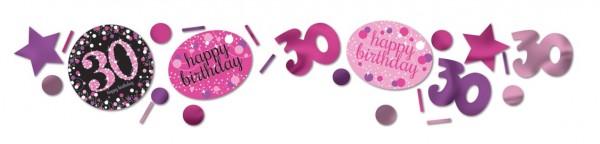 Pink 30th Birthday Streudeko 34g