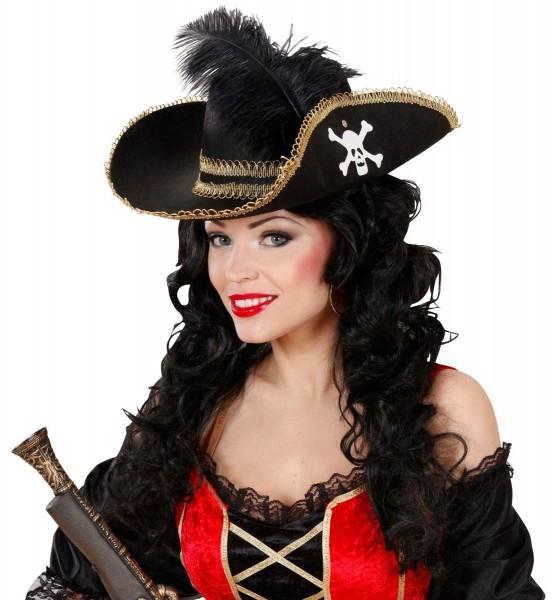 Gustoso cappello da pirata con teschio