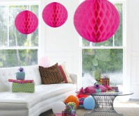 Honigwaben Ball pink 50cm