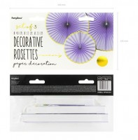 3 Candy Party Papierrosetten lavendel
