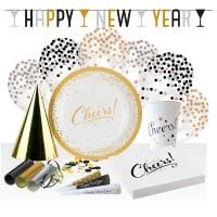 Set de Fiesta Deseos Dorados de Año Nuevo 54 piezas