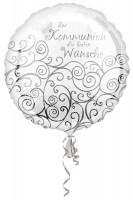 Folienballon Glückwünsche zur Kommunion 43cm