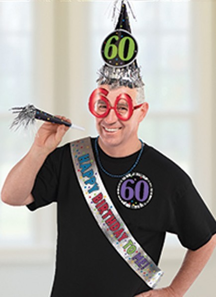 6-tlg. Party-Set 60th Birthday