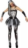 Schauriges Skelettkleid Mit Tüllrock Für Damen