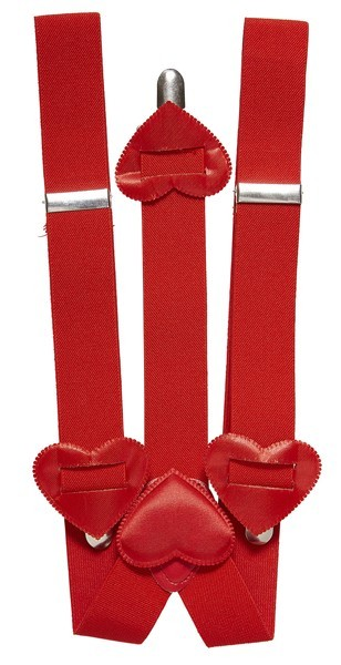 Rote Hosenträger In Herzform