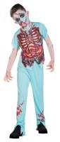 Blutiges Zombie Arzt Kostüm für Kinder