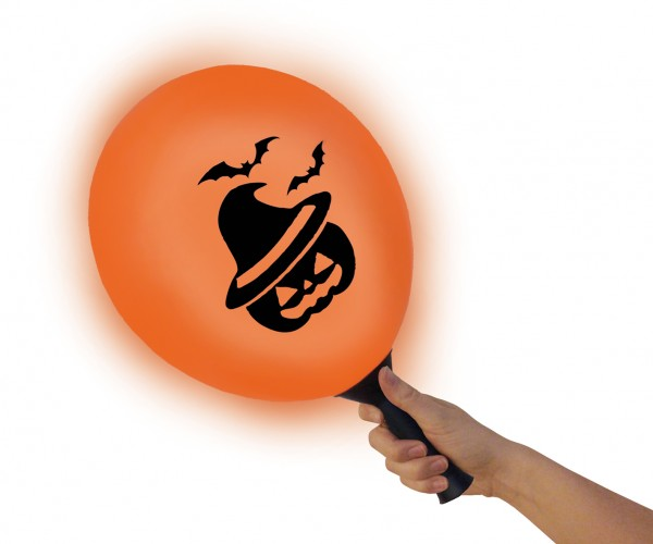 LED balloon Halloween Fun with holder 23cm