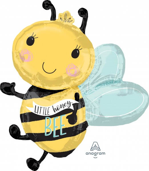 Baby bees figure foil balloon