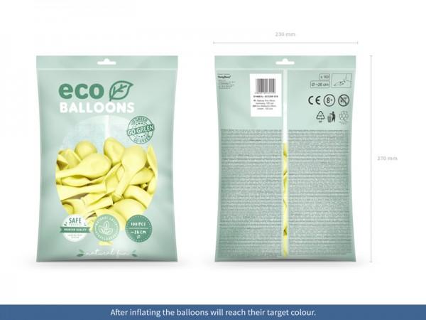 100 eco pastel balloons cream 26cm