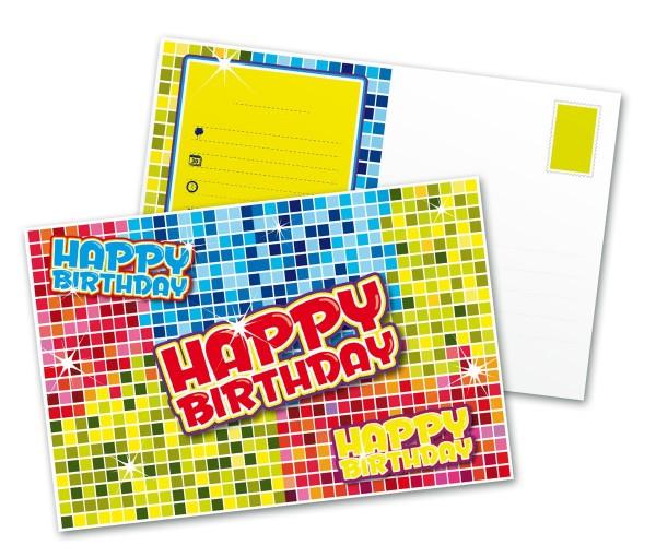 6 Groovy Happy Birthday Einladungskarten