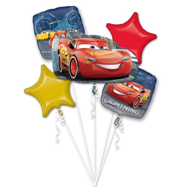 5 Folienballon Cars Lightning McQueen