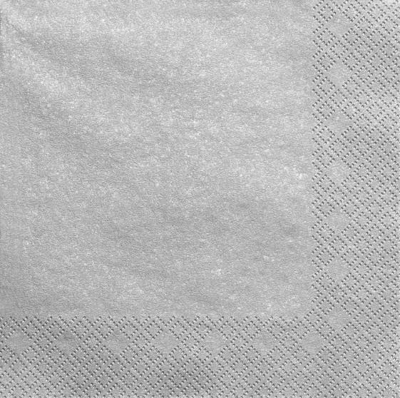 20 servilletas Scarlett plata metalizado 40cm