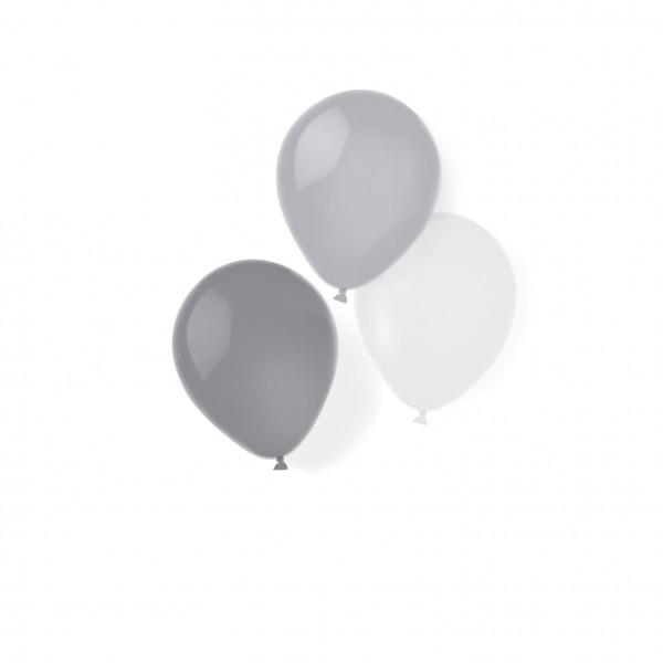 8 ballons Silver Line 25,4 cm