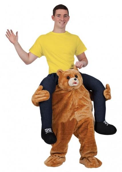 Teddybeer piggyback kostuum